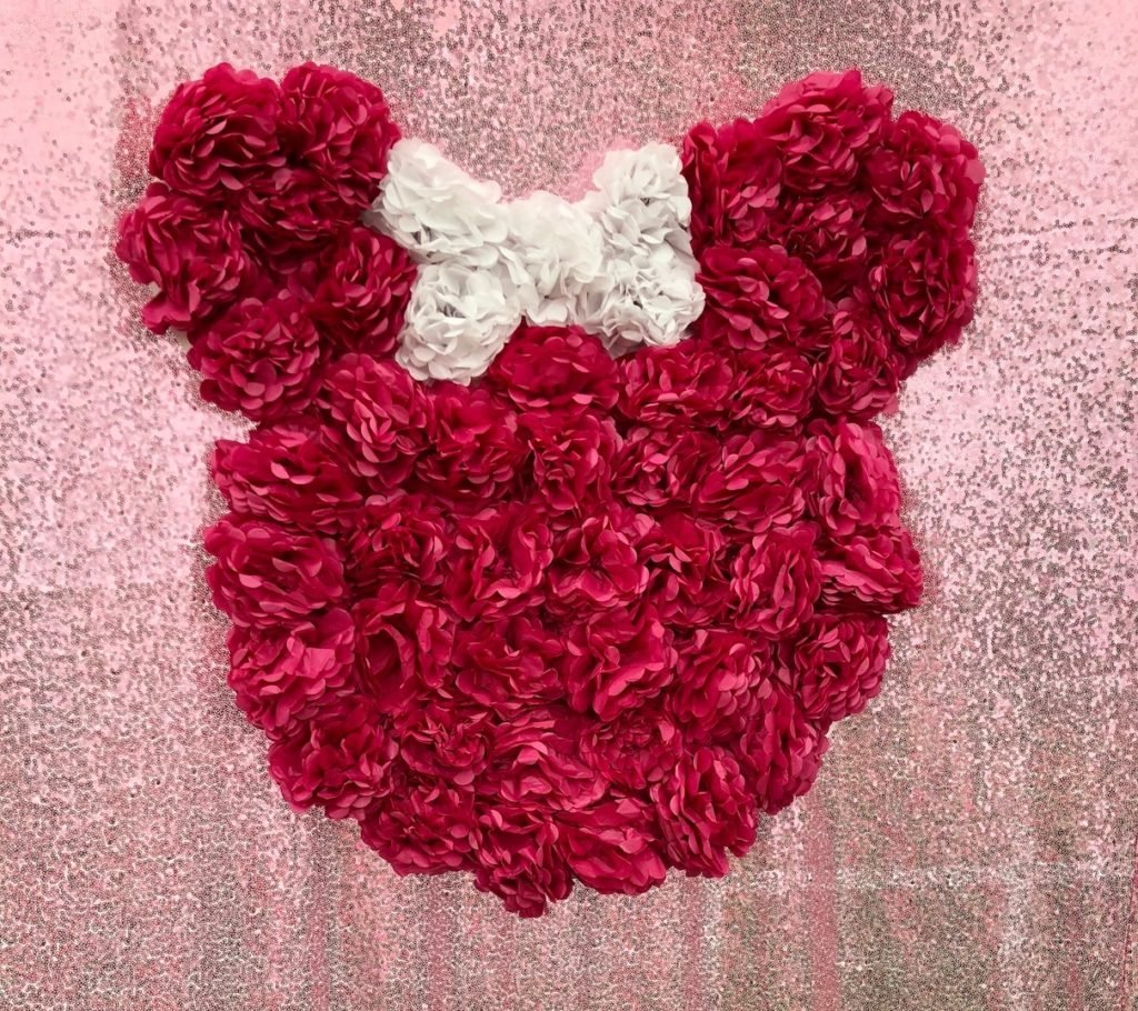 minnie mouse birthday party backdrop
