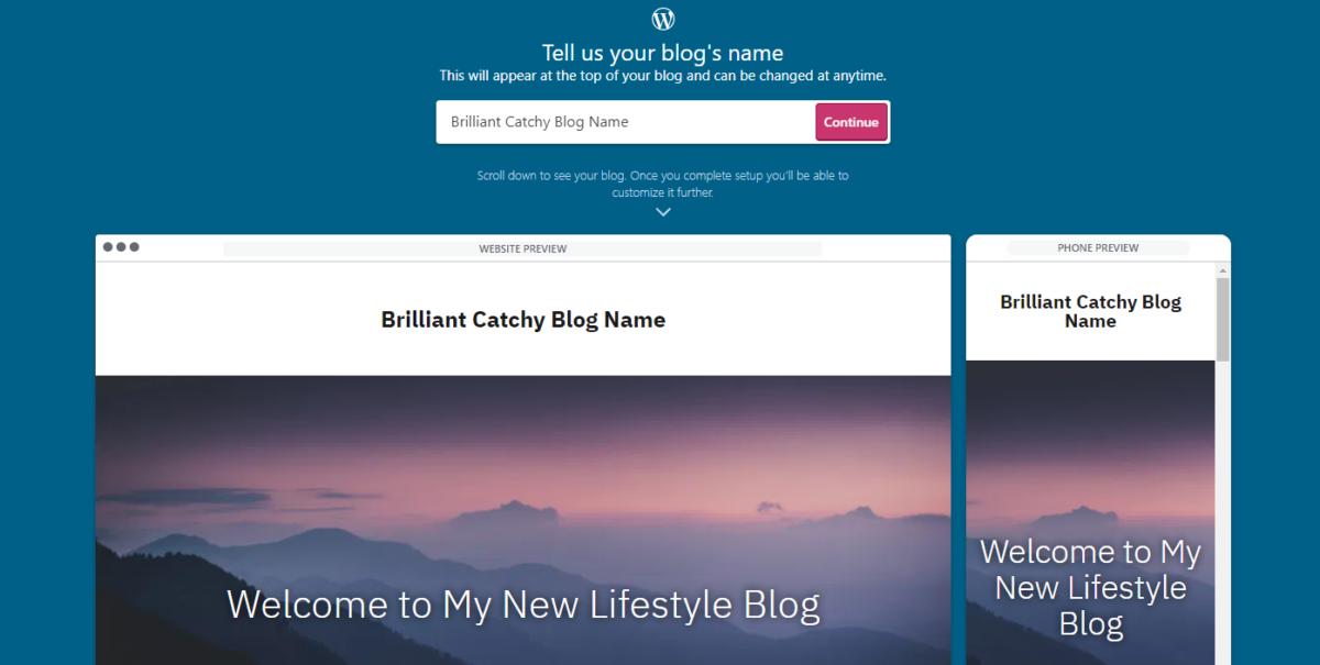 Brilliant catchy lifestyle blog name