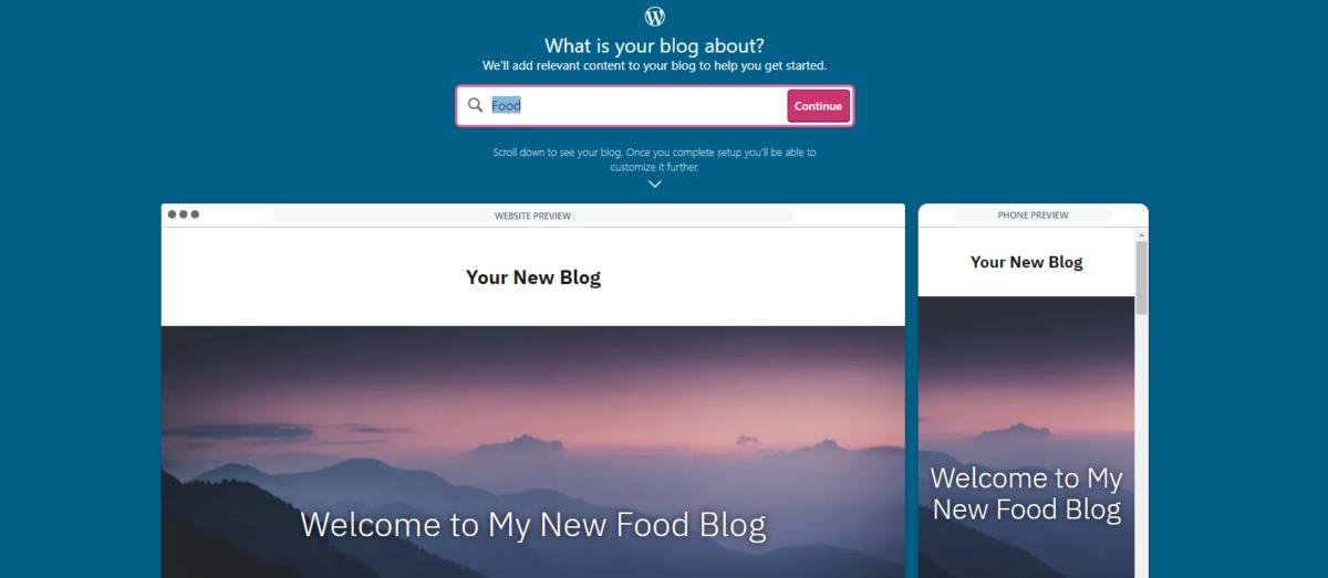 Food blog category