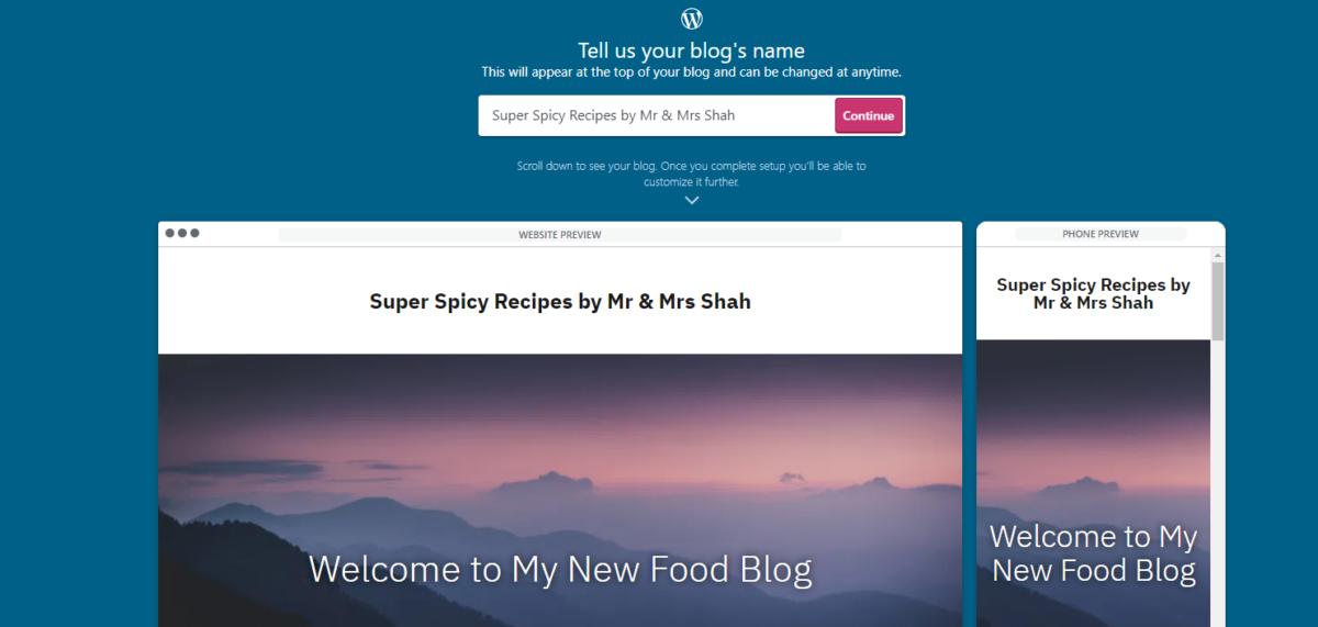 choose your blog name
